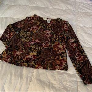White Stag Ladies Long Sleeved Sweater Brown/Pink